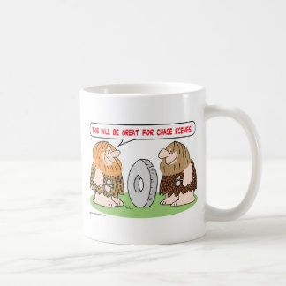 caveman wheel chase scenes mugs