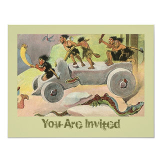 "Cavemen Caveman's Holiday Hunting Trip Invitation 4.25"" X 5.5"" Invitation Card"