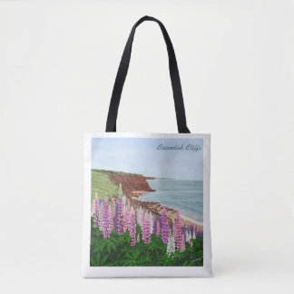 Cavendish Cliffs and Spring Lupins Tote Bag