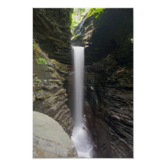 Cavern Cascade, Watkins Glen State Park, NY Poster