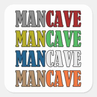 Caverne d'homme autocollant carré