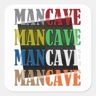 Caverne d'homme sticker carré