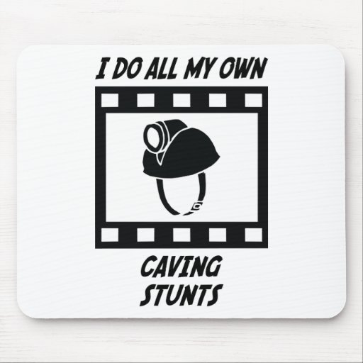 Caving Stunts Mouse Pads
