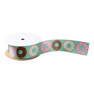 Cavity Cakes- A Delicious Doughnut Printed Ribbon Satin Ribbon