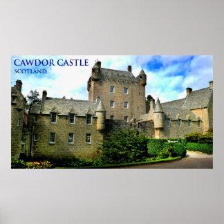 cawdor castle scotland poster