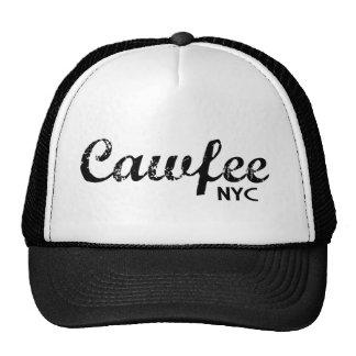 Cawfee NYC funny coffee trucker hats