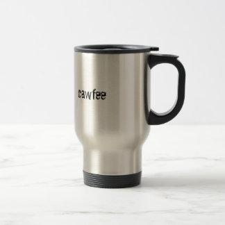 """Cawfee"" Travel Mug, black, metal Travel Mug"