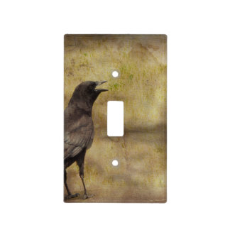 Cawing Crow Light Switch Cover