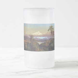 Cayambe, Ecuador by Frederick Edwin Church Frosted Glass Beer Mug