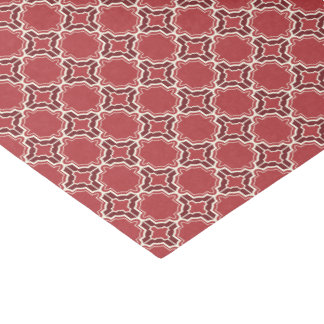 Cayenne Red Moroccan Lattice Pattern Tissue Paper