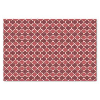 Cayenne Red Moroccan Quatrefoil Pattern Tissue Paper