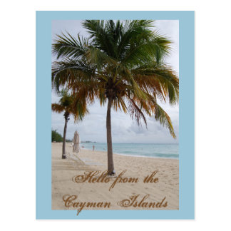 Cayman Islands Beach Postcard
