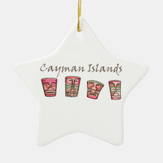 Cayman Islands Ceramic Star Ornament