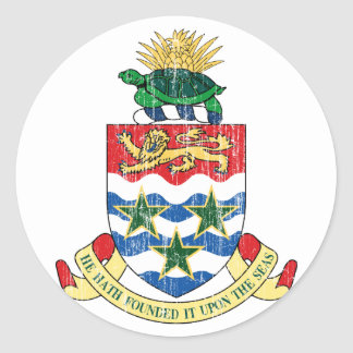 Cayman Islands Coat Of Arms Classic Round Sticker