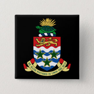 cayman islands emblem 2 inch square button