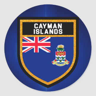 Cayman Islands Flag Classic Round Sticker