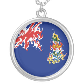 Cayman Islands Gnarly Flag Necklace