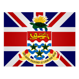Cayman Islands High quality Flag Postcard