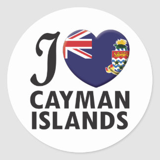 Cayman Islands Love Classic Round Sticker