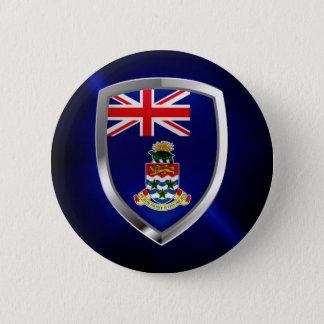Cayman Islands Mettalic Emblem 2 Inch Round Button