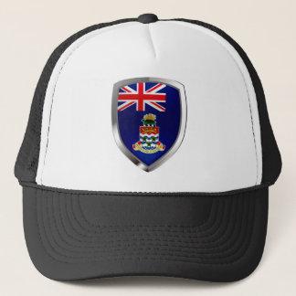 Cayman Islands Mettalic Emblem Trucker Hat