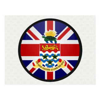 Cayman Islands quality Flag Circle Postcard