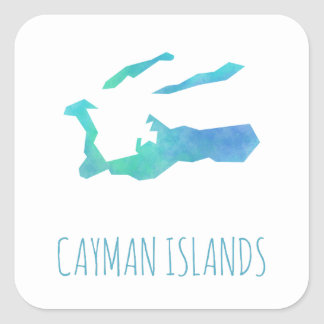 Cayman Islands Square Sticker