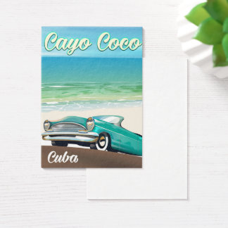 Cayo Coco cuban vacation poster Business Card