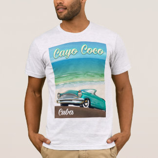 Cayo Coco cuban vacation poster T-Shirt