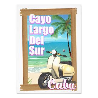 Cayo Largo del Sur cuban vacation poster