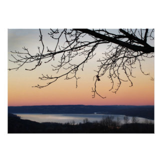 Cayuga Lake at Sunset Poster