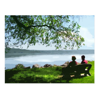 Cayuga Lake Bench Postcard