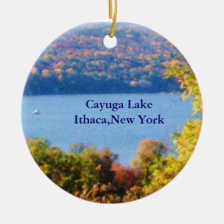CAYUGA LAKE, ITHACA, N.Y. ornament