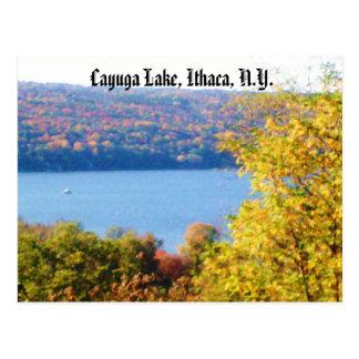 CAYUGA LAKE, ITHACA, NEW YORK postcard