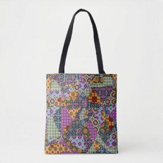 Cazy Patchwork Tote Bag