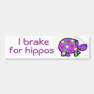 CB- I brake for hippos bumper sticker