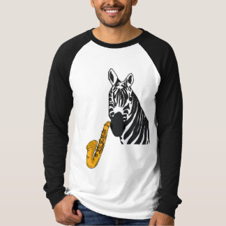 CB- Zebra Playing the Saxophone Shirt
