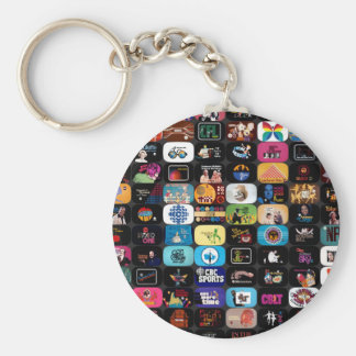 CBC Historic Graphics and Logos Basic Round Button Keychain