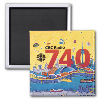 CBC Radio 740 - 1980 promo graphic Magnet
