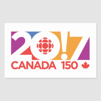 CBC/Radio-Canada 2017 Logo Sticker