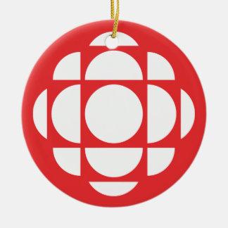 CBC/Radio-Canada Gem Round Ceramic Ornament