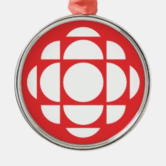 CBC/Radio-Canada Gem Silver-Colored Round Ornament