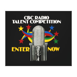 CBC Radio Talent Competition - promo Stretched Canvas Prints