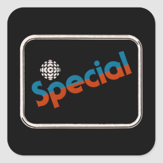 CBC Special - 1978 promo graphic Square Sticker