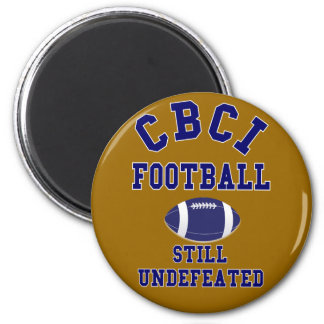 CBCI Football Still Undefeated 2 Inch Round Magnet