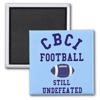 CBCI Football Still Undefeated Square Magnet