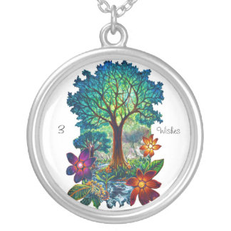 CBjork 3 Wishes Inspirational Magical Tree Silver Plated Necklace