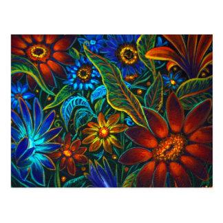 CBjork Avatar Floral Design Postcard