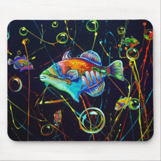 CBjork, Hawaiian Fish Reef Trigger Mouse Pad