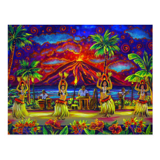 CBjork Hawaiian Luau Post Cards
